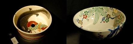 京焼・清水焼の洗面器