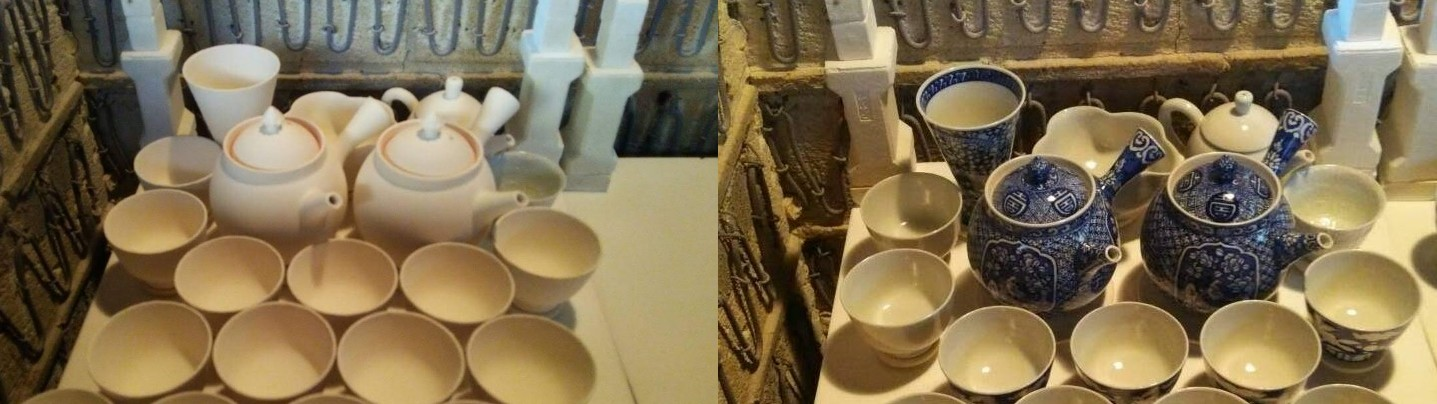 オリジナル陶器・トイレ便器の絵付け