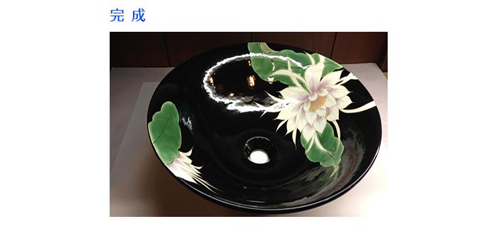 オリジナル洗面器素焼き