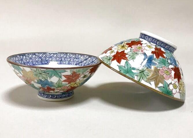 京焼・清水焼 清水焼 ご飯茶碗<br> 色絵雲錦詰