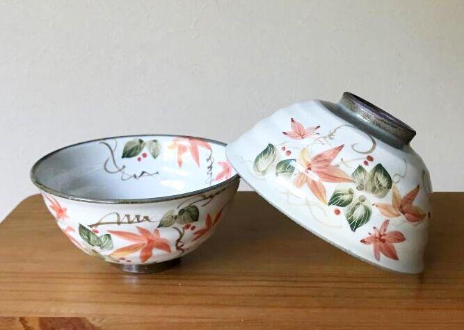 画像1: 京焼・清水焼 ご飯茶碗 のうぜんかずら (のうぜんかずら) (1)