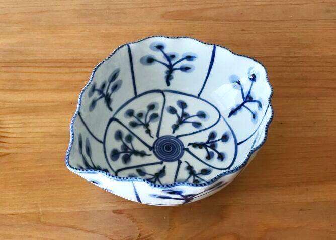 画像1: 京焼・清水焼 向付 なずな葉型(なずなはがた) (1)