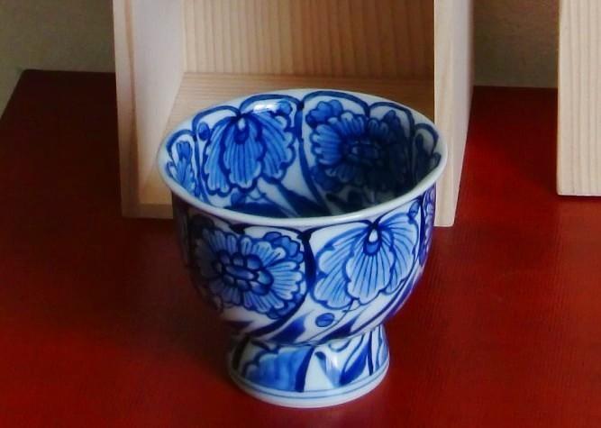 画像1: 清水焼 来客用湯呑・汲出碗 内外草花 (ないがいそうか) (1)