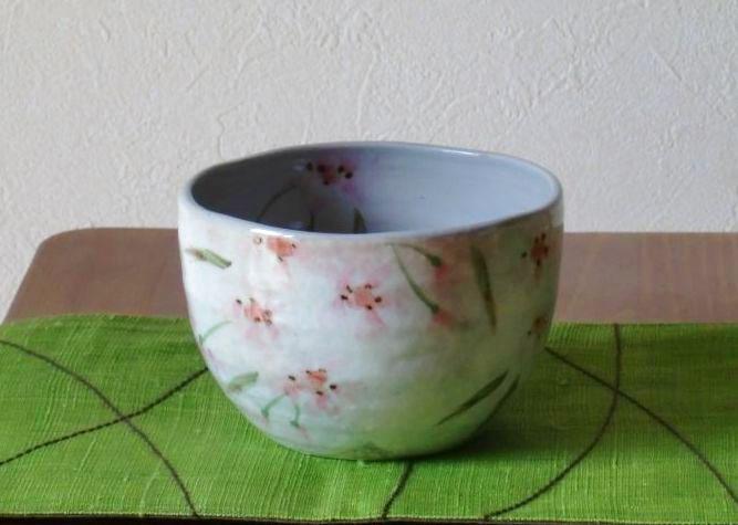 画像1: 清水焼 いっぷく碗 3月 桜(さくら) (1)