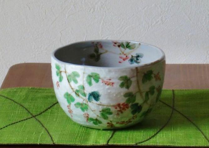 画像1: 清水焼 いっぷく碗 10月 萩(はぎ) (1)
