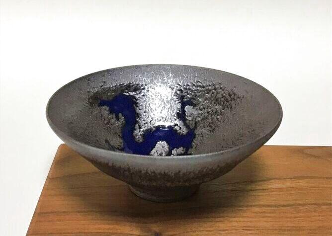 京焼・清水焼 抹茶碗<br> 玄燿天目青龍紋