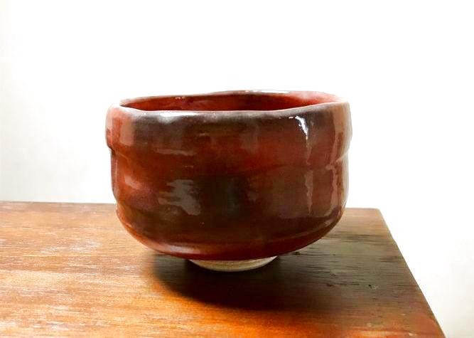 清水焼 京焼・清水焼 抹茶碗<br>赤楽 小